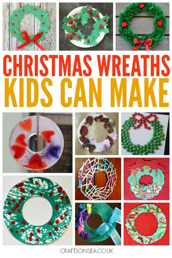 26 Easy Children S Christmas Wreath Ideas Preschool Christmas