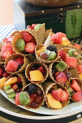 Woodsy Fruit Cones | Great Outdoors Baby Shower | South Texas wedding & event planning