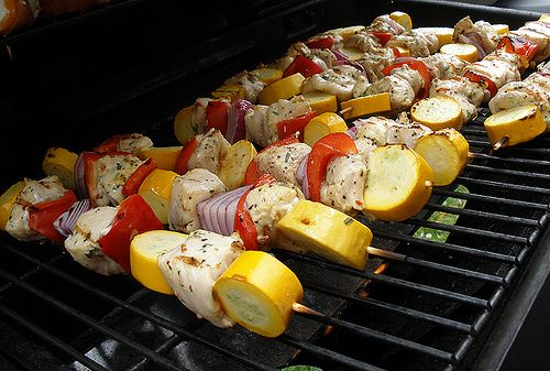 Favorite Summer Food- grilled chicken kabobs. My dad used to make ...