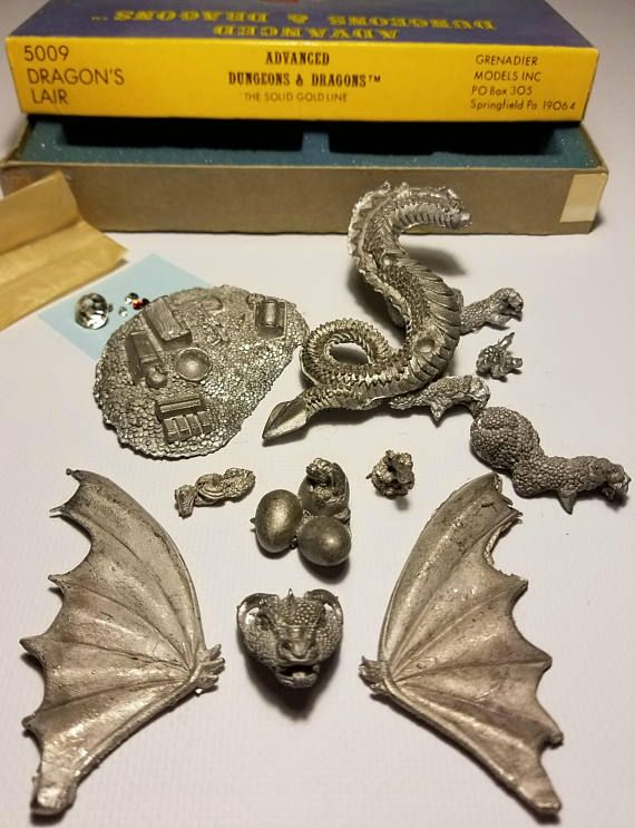 1982 AD&D Dragon's Lair The Solid Gold Line Miniature Lead