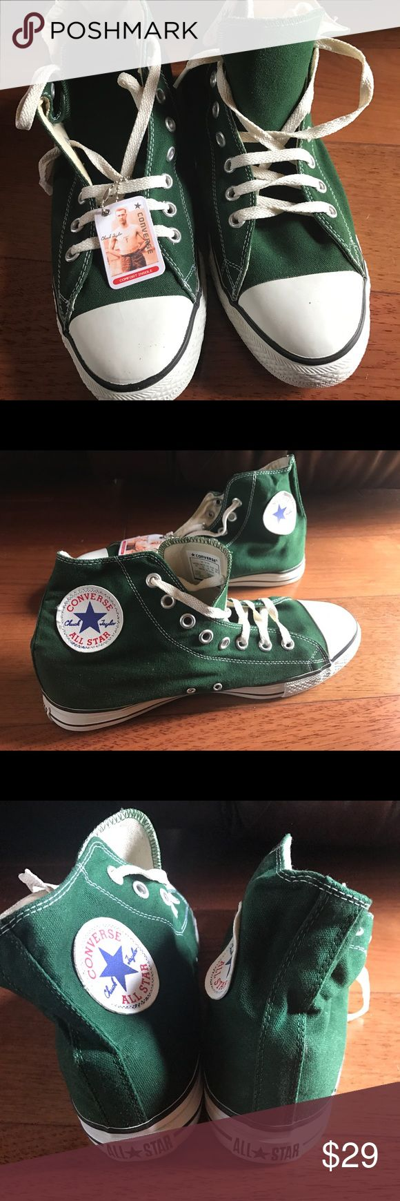 Converse All Star Hi Top Green Chuck Taylor Converse All Star Hi Top Green Chuck Taylor, Men's US 11 & 12, BRAND NEW NO BOX. Price Firm, No offers Converse Shoes