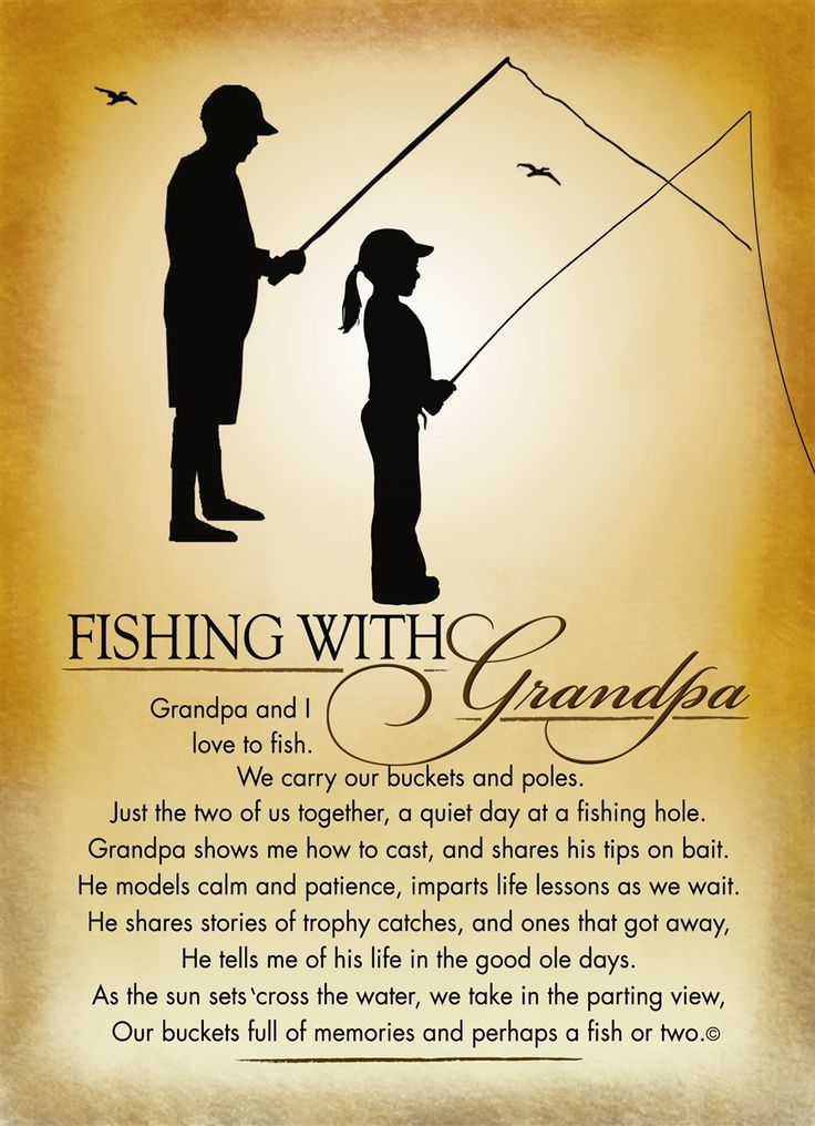 Fishing With Grandpa Frame Grandparents Amp Grandchildren