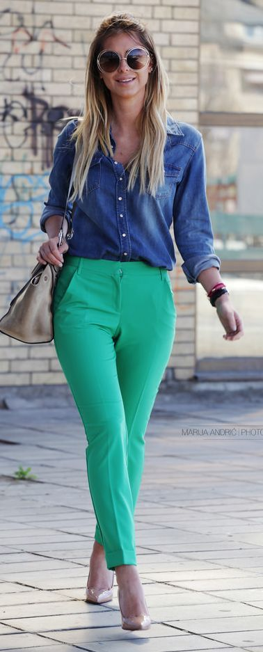 Green And Blue Outfit Idea by Zorannah.