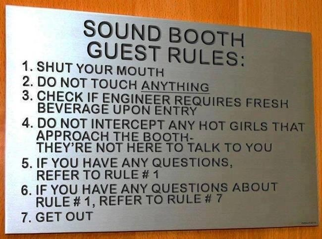 Sound and #DJBooth Guest Rules!