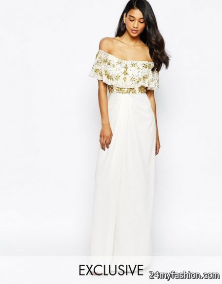 Nice Off the shoulder maxi dresses 2018-2019 Check more at http://myclothestrend.com/dresses-review/off-the-shoulder-maxi-dresses-2018-2019/