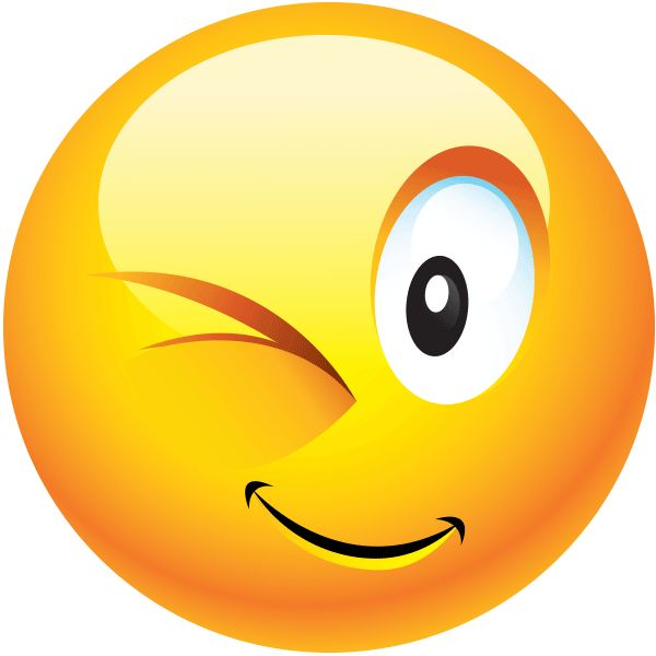 This winking smiley can be used for a wide array of conversations.