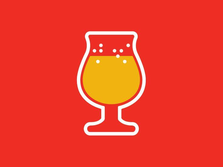 Tulip Beer Glass by Tom Cox & Imaginary Super Friend Unorthocox