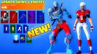 New Leaked Fortnite Emotes Skins Robot Skin Nfl Skins Emote