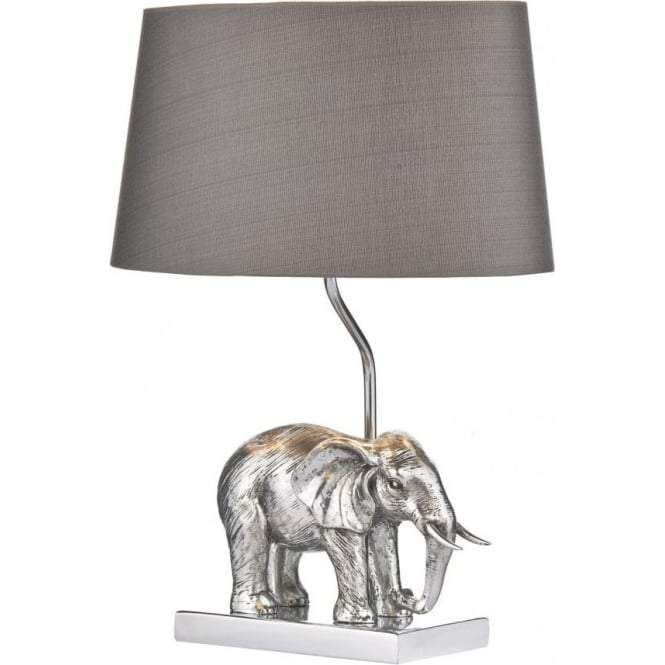 Silvered Elephant Safari Table Lamp And Shade Elephant Table Lamp Table Lamp Lamp