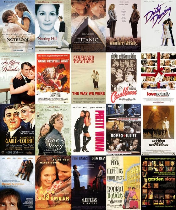 20 most romantic movies I could totally do this all day for my birthday!