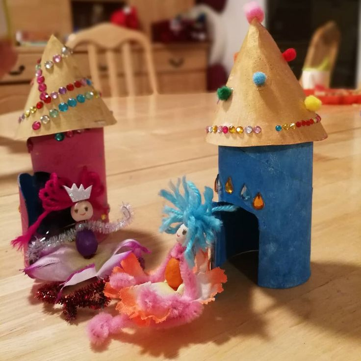 Crafts with my almost 4 yo daughter. You obviously need a lot of diamonds, pipe cleaners, beads, and more diamonds.  #diy #crafts #kidscrafts #kidscraft #childrencrafts #fairy #fairies #fairyhouse #fairyhouses #craftgems #glitter #moreglitter #seriouslyjustglueglitteronglitter #pipecleaner #flowers #flowerfairy