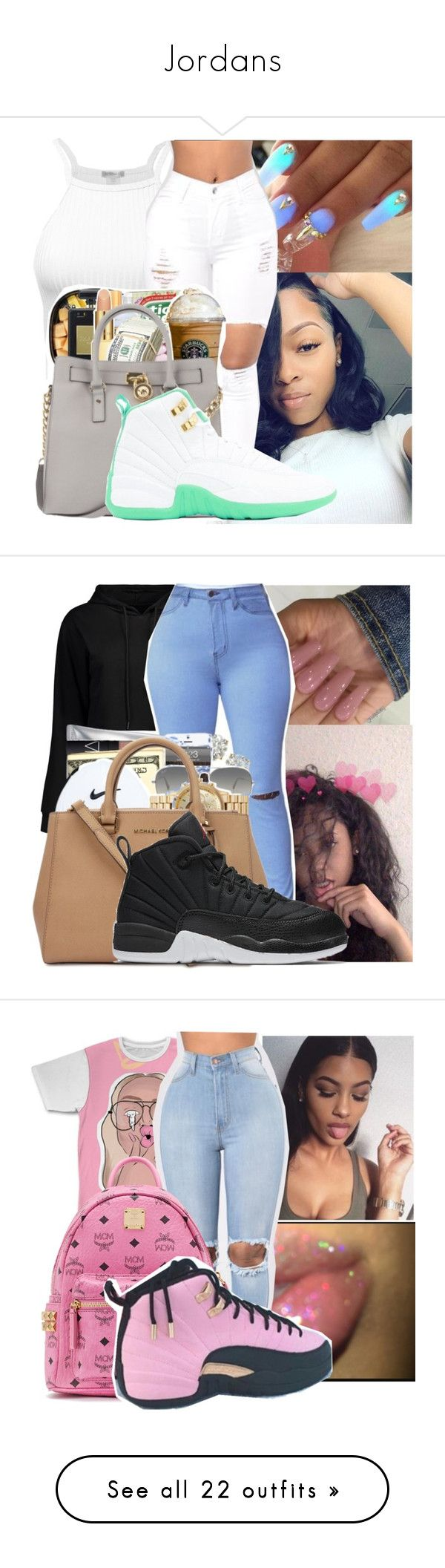 """Jordans"" by badleaa ❤ liked on Polyvore featuring Ray-Ban, NIKE, MCM, Topshop, Boohoo, beauty, Retrò, O-Mighty, Levi's and Massimo Alba"