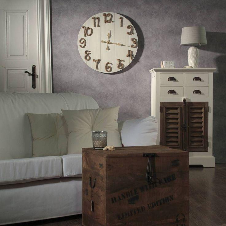 #zegar #clock #watch #decoration #dekoracje  Zegar Hampton 70cm, 70x4x70cm - Dekoria