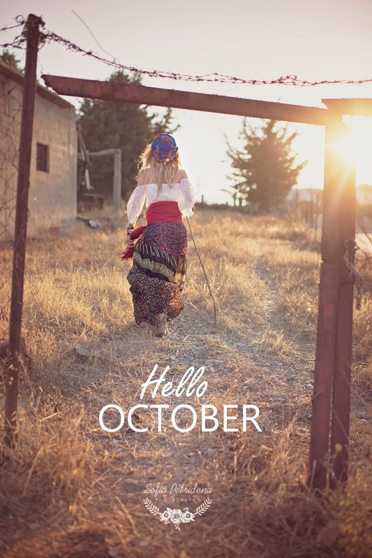 Hello October, gypsy, fashion, autumn