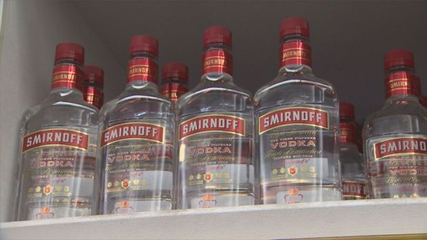 A 750 millilitre bottle of Smirnoff vodka that used to sell for $38 in Yellowknife liquor stores now sells for $33. The N.W.T. Liquor Licensing Commission began regulating prices at the city's two stores on Tuesday.