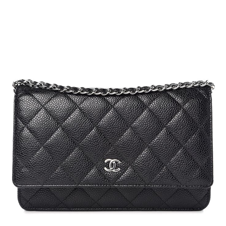 CHANEL Caviar Quilted Wallet On Chain WOC Black Chanel