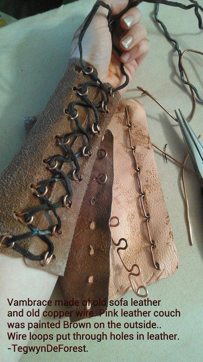 leather vambrace - no grommets by ~TegwynDeForest on deviantART -she also did the same with a corset
