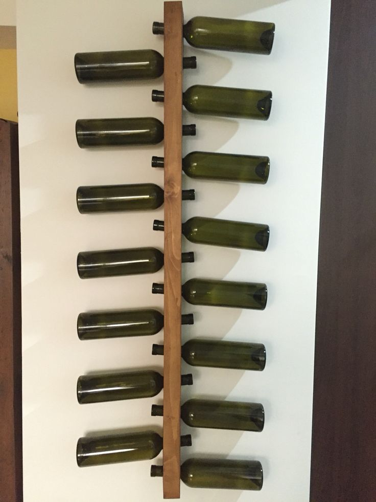 Wood wine rack.