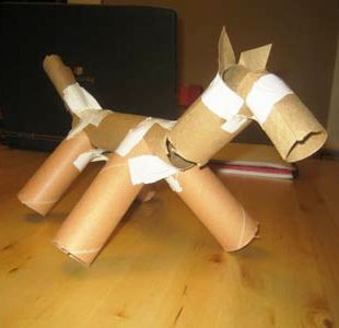 paper mache dog   News You Can Really Use: Reuse Ideas for Newspaper   Trashy Wench: The ...