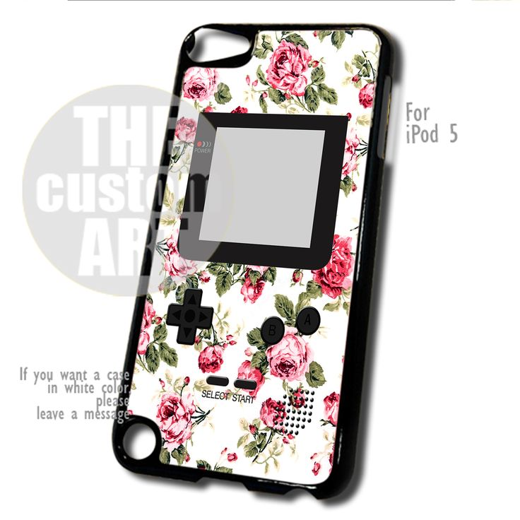 Floral Gameboy case for iPod 5 | TheCustomArt - Accessories on Bonanza