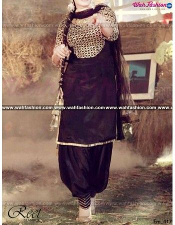 Give yourself a stylish & designer look with this Marvellous Black Punjabi Suit. Embellished with Embroidery work and lace work. Available with matching bottom & dupatta Little Bit different. It will make you noticable in special gathering. You can design this suit in any color combination or on any fabric. Just whatsapp us for more details.  For more details whatsapp us: +919915178418