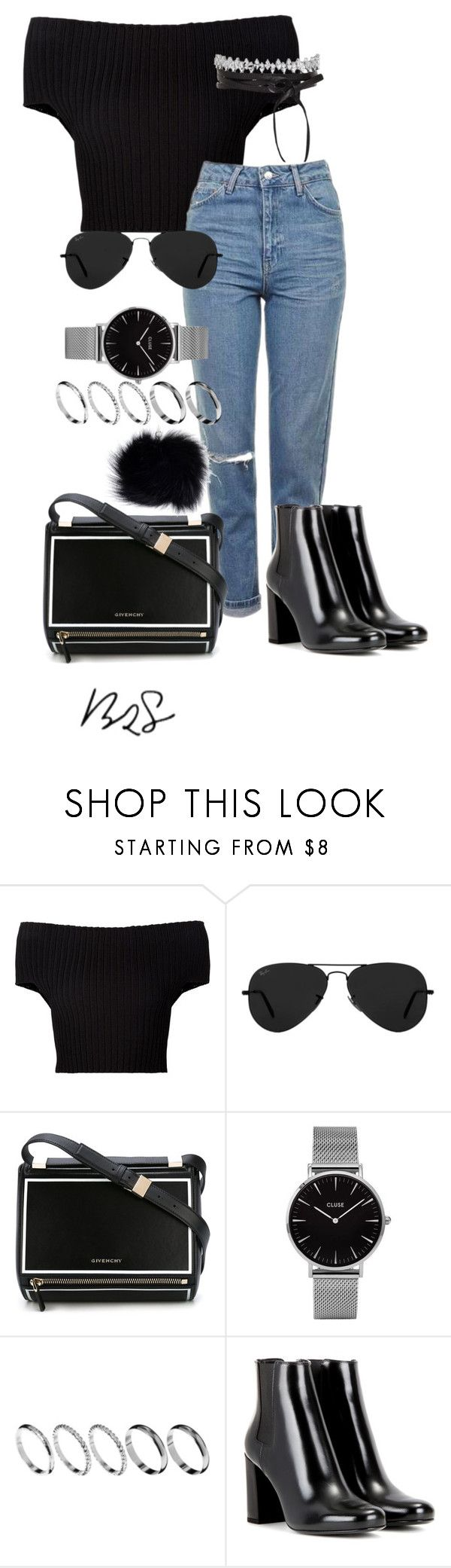 """""""#753"""" by blendingtwostyles ❤ liked on Polyvore featuring Calvin Klein Collection, Topshop, Ray-Ban, Givenchy, ASOS and Yves Saint Laurent"""