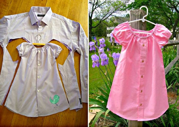 You will love this Men's Shirt Toddlers Dress Tutorial. See how to upcycle an old business shirt into a cute dress. Lots of versions and video included.