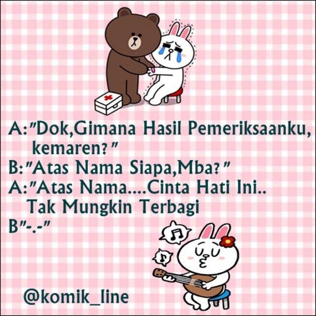 "@komik_line's photo: ""Atas nama cinta dok (nyanyi lagu Rossa) #komik_line"""