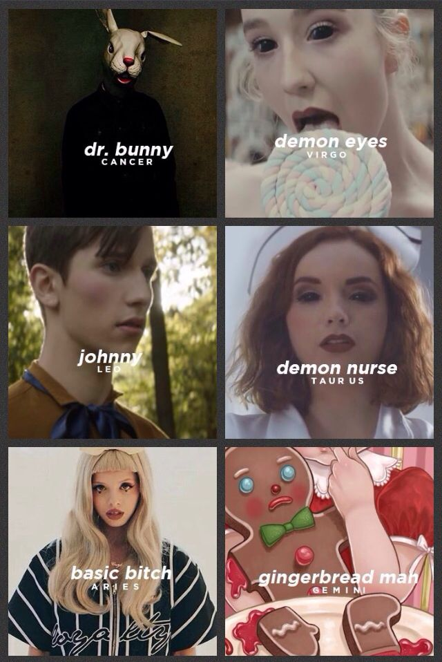 The signs as Melanie Martinez characters (2/2)