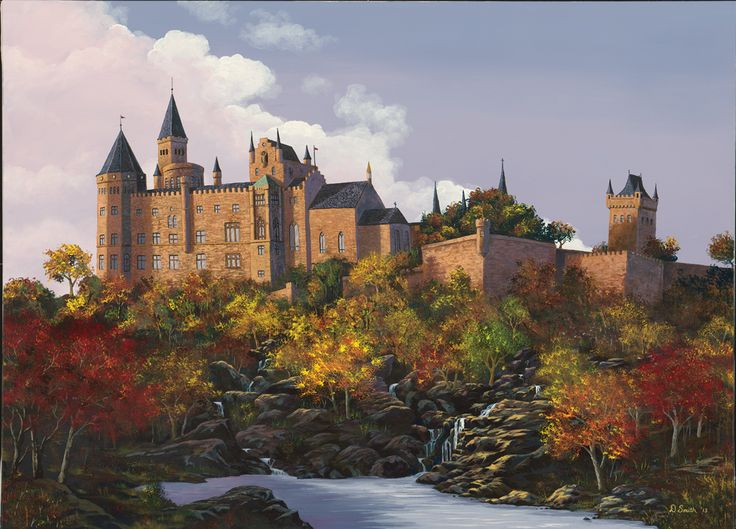 Wanted to try a castle again on a larger canvas. Acryllic.