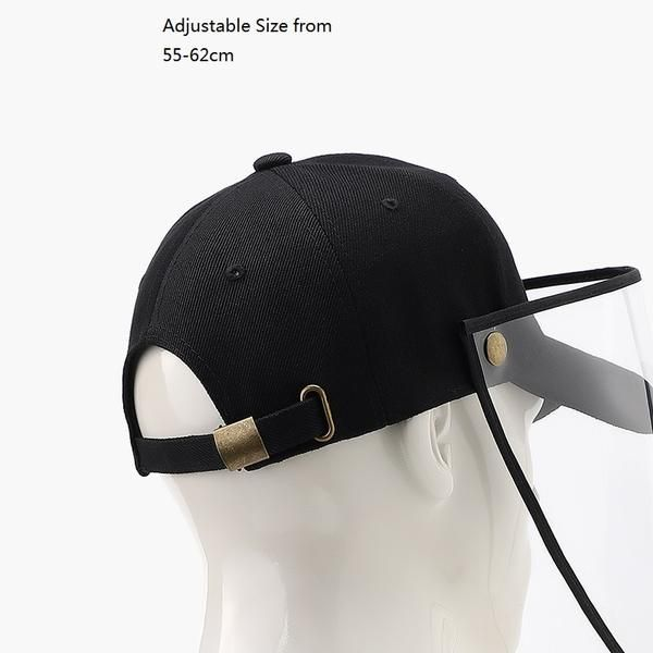 1Pc Anti Saliva Hat Dust Proof Baseball Cap Soft Face Shield Protection USA