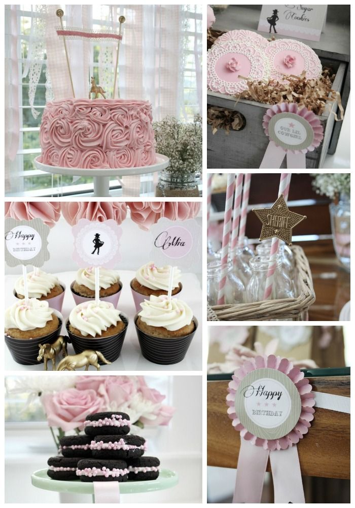 Here are some vintage cowgirl birthday party ideas great
