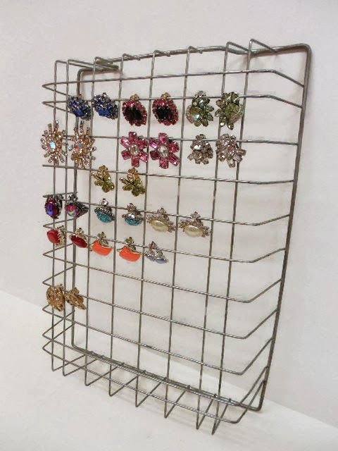 Easy way to store/display clip on earrings, necklaces, and more... More Nutsy Stuff, Plus...