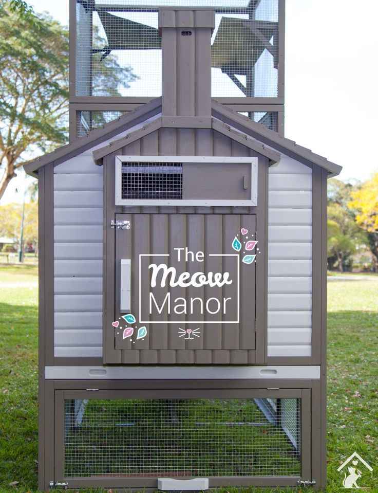 The Meow Manor is the purrfect new home for your kitty! Let your feline friends out to play in the safe and pawesome Meow Manor outdoor cat enclosure. Click on the pin to find out more. #meowmanor #outdoorcatenclosures #backyardcatenclosures