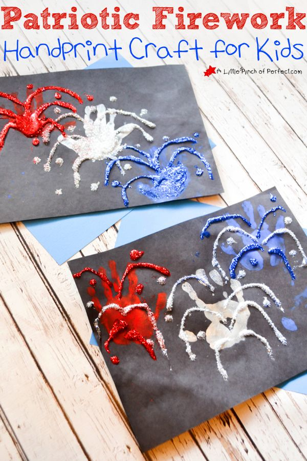 Fourth of July Firework Handprint Craft for Kids | A Little Pinch of Perfect