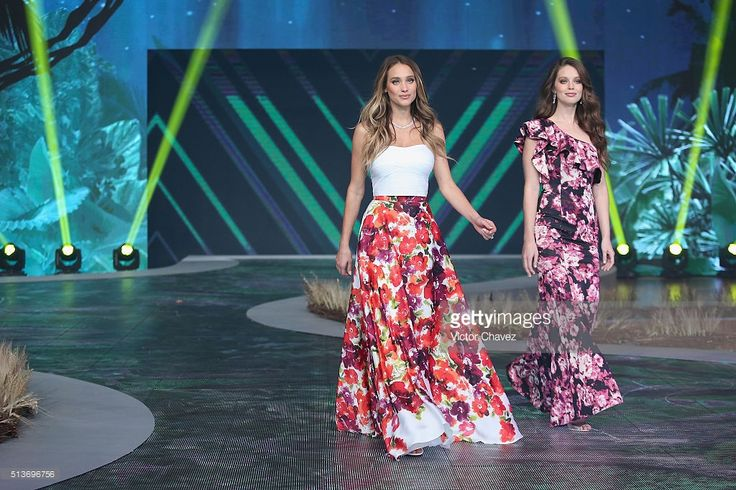 Models Hannah Davis and Emily DiDonato walk the runway during the Liverpool Fashion Fest Spring/Summer 2016 at Televisa San Angel on March 3, 2016 in Mexico City, Mexico.