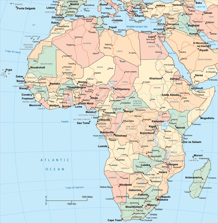 africa | Map of Africa with African Countries