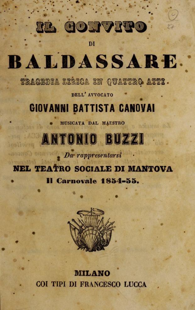 Teatro Sociale di Mantova Il convito di Baldassare : tragedia lirica in q...