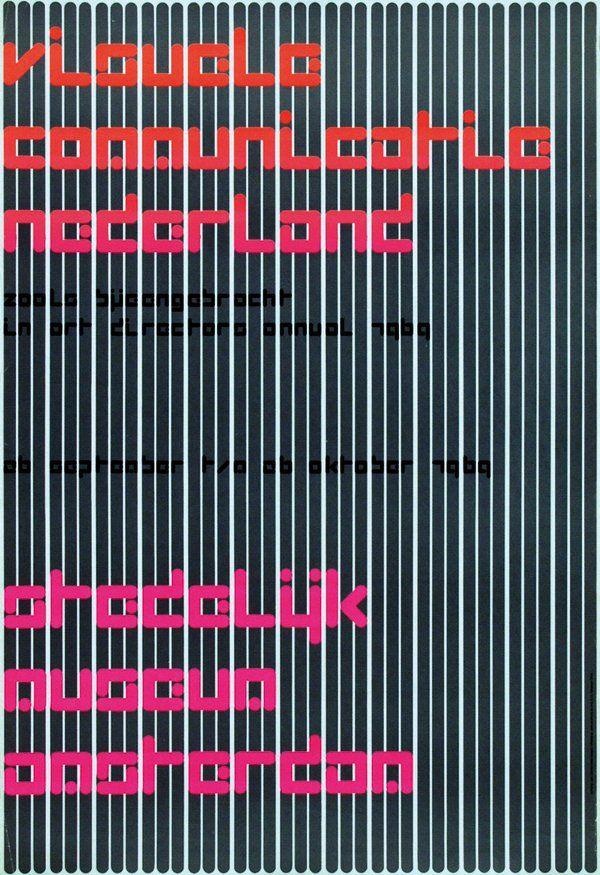Wim Crouwel: Visuele communicatie Nederland, 1969  | Stedelijk Museum Amsterdam