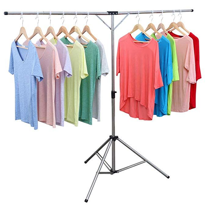 Exilot Foldable Portable Space Saving Clothes Drying Rack Adjustable High Capacity Stainless Steel Lau Clothes Drying Racks Drying Clothes Drying Rack Laundry