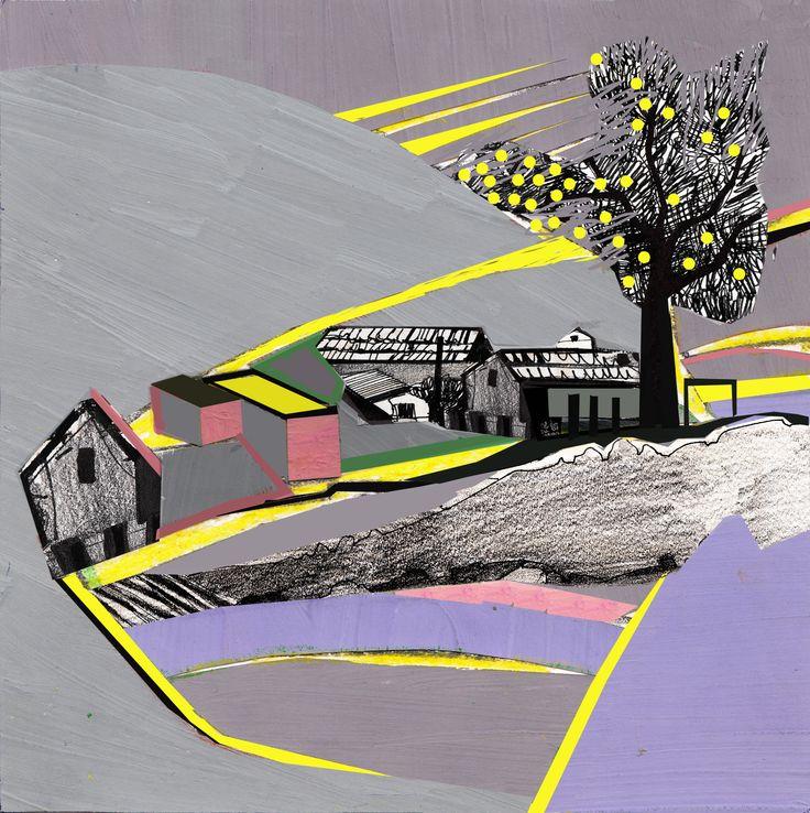 """Collage Landscape #3"" Author: Alina Shagidullina (a creator and owner of HOUZY) @_houzy"