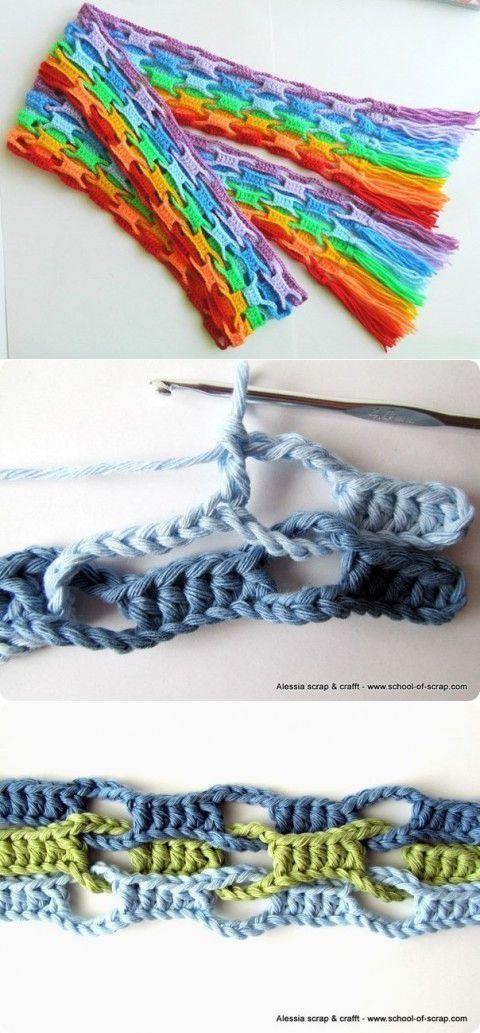 Интересная техника вязания крючком | Умелые ручки