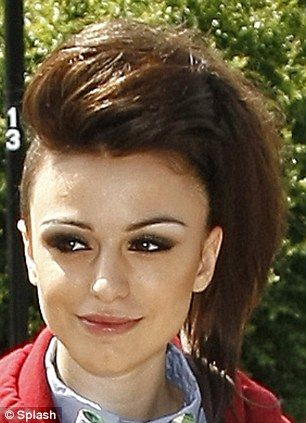partially+shaved+hairstyles+for+women | Cher Lloyd shows off her new ...