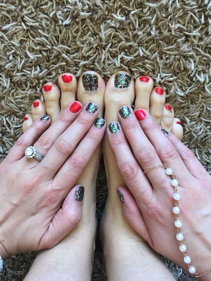 Color Street Mani Pedi Glitter Nails Spring Nails Summer Nails