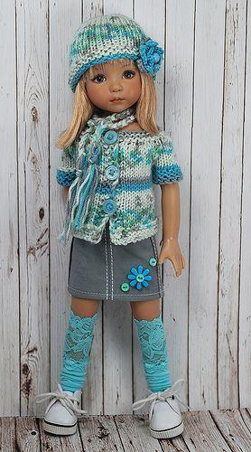 lace socks  Little Darling doll - Dianna Effner