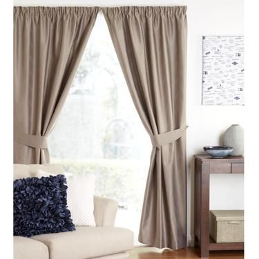 Hayman Henley Pencil Pleat Curtains Beige 220 - 270 x 213 cm | Spotlight Australia
