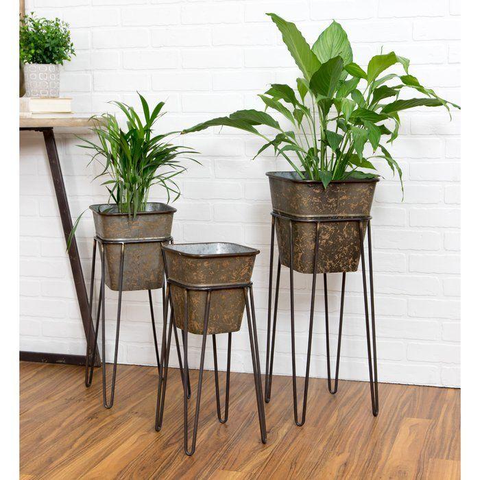 Verville 3-Piece Aluminum Pot Planter Set