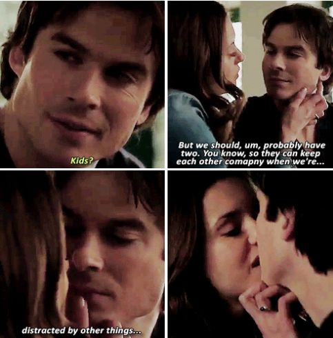 tvd 6x19 - Delena discussing what their future would look like if they were human