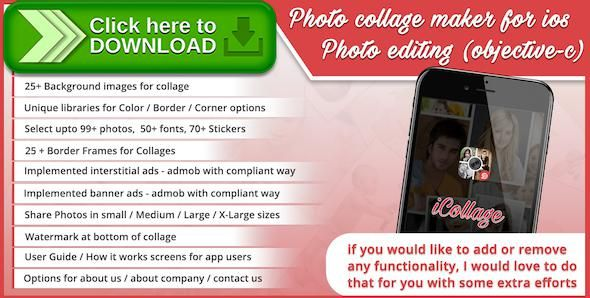 [ThemeForest]Free nulled download Photo collage maker for ios - photo editing (objective-c) from http://zippyfile.download/f.php?id=50709 Tags: ecommerce, cards, collage, frames, greetings, grids, photo collage, photo collage maker, photo editor, photogrid, pic collage for iphone, pic collages, pic quilt, piccollage, picture collage, stickers