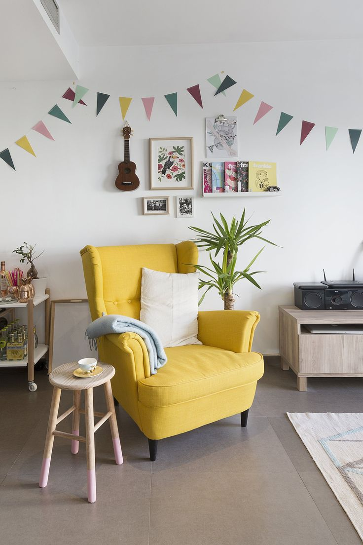 """The """"little summer"""" yellow nook as they describe it."""